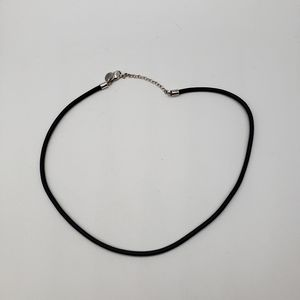 RLM leather necklace with 925 clasp